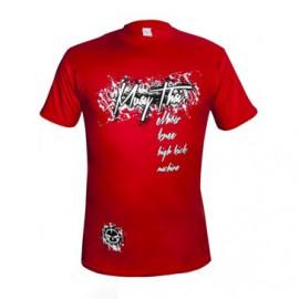 Tričko Machine Muay Thai - Červené