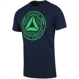 Pánské tričko Reebok Delta Badge - modré