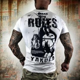 Yakuza tričko pánské Break The Rules TSB 8020 - bílé