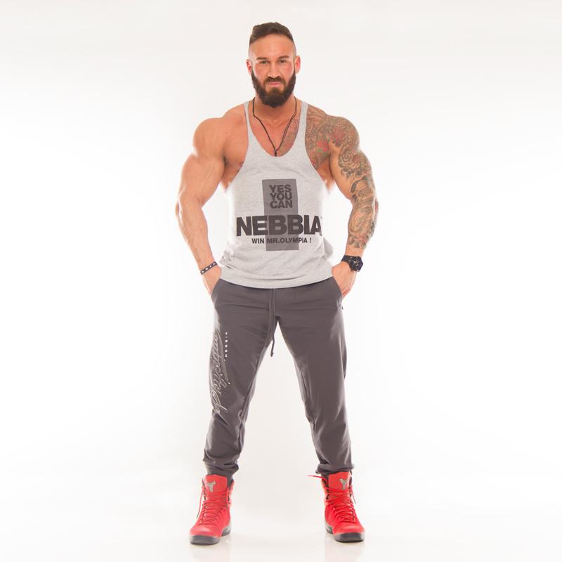 Nebbia Pánské tílko Fitness 970 - šedé