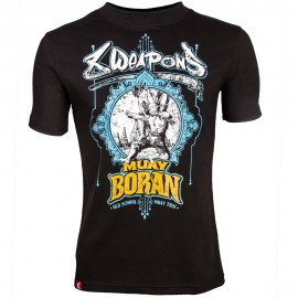 Pánské Muay Thai tričko 8 weapons boran - černé