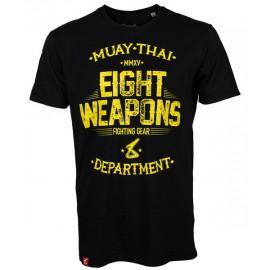 Pánské Muay Thai tričko 8 weapons Fight Department - černé