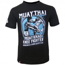 Pánské Muay Thai tričko 8 weapons Khao - černé