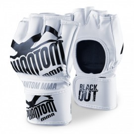 "PHANTOM MMA RUKAVICE ""Blackout PU"" - bílo/černé"
