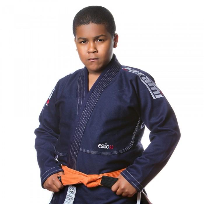 Tatami Dětské Kimono Estilo 5.0 Premier BJJ Gi - černo/stříbrné