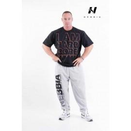 NEBBIA Pánské triko HardCore 390 - černé