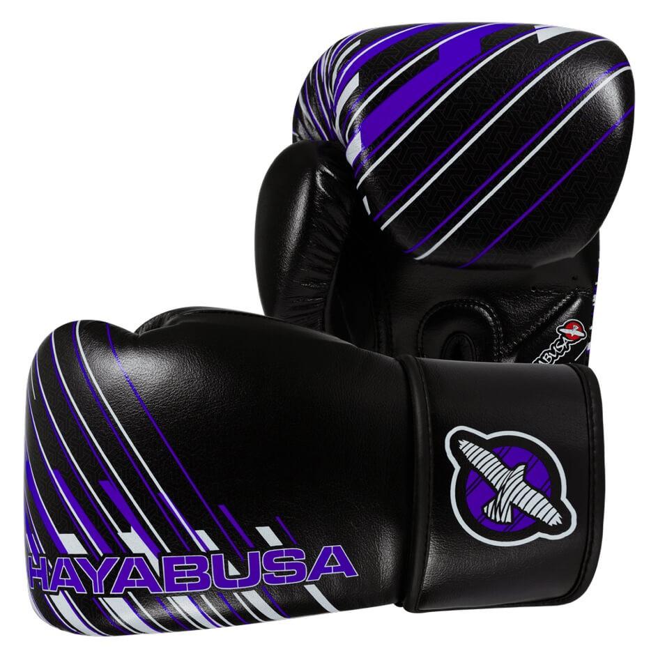 Boxerské rukavice HAYABUSA IKUSA Charged 10OZ - černo/fialové