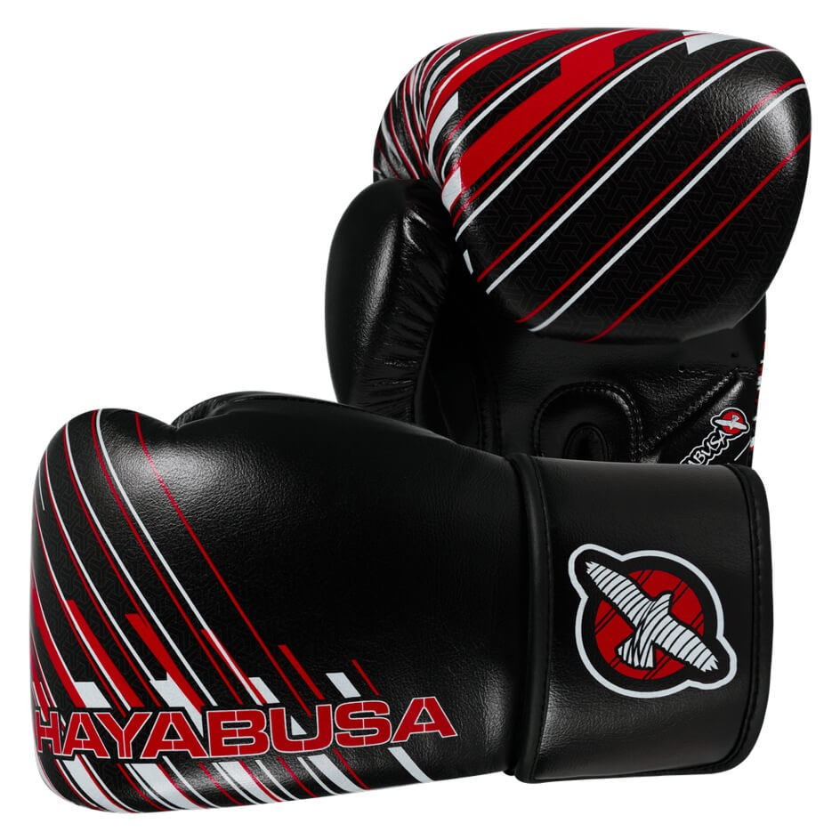 Boxerské rukavice HAYABUSA IKUSA Charged 10OZ - černo/červené