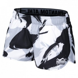 "PHANTOM Dámské sportovní šortky ""Concrete"" - černo/bílé"