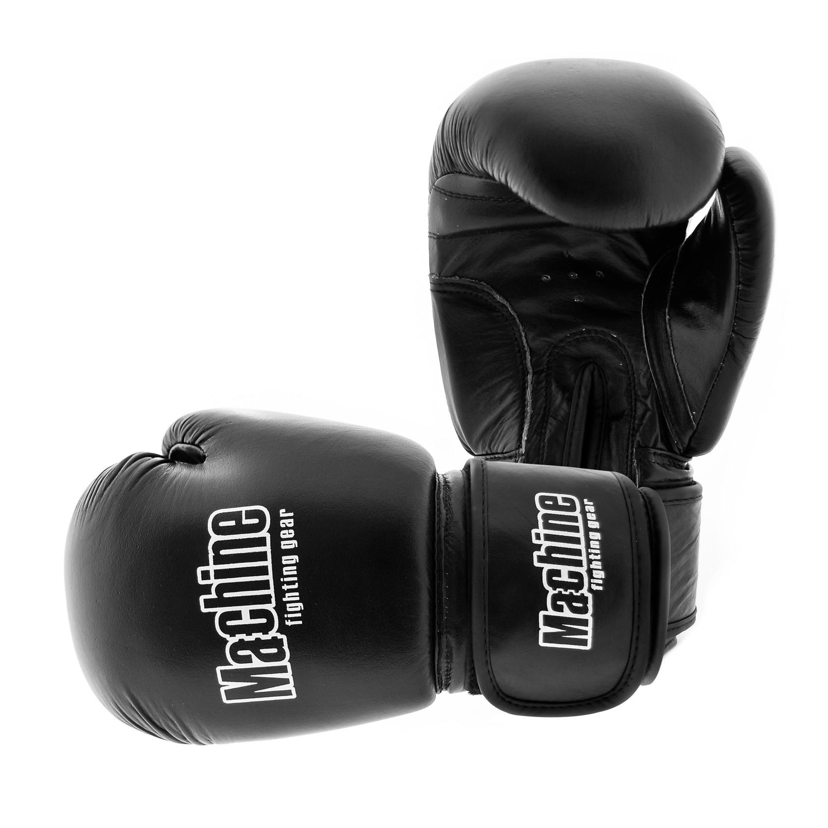 Boxerské rukavice Machine Retro kůže - černé