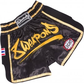 8 WEAPONS Muay Thai trenýrky GOLD