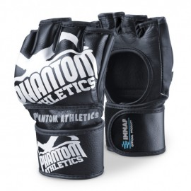 "PHANTOM MMA RUKAVICE ""Blackout PU"" IMMAF Edition - černo/bílé"