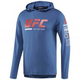 REEBOK Pánská mikina UFC ULTIMATE FAN - modrá