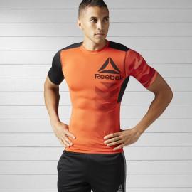 Pánské kompresní tričko Reebok ACTIVCHILL  - oranžové