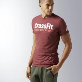 REEBOK Pánské tričko CrossFit FORGING ELITE - bordó