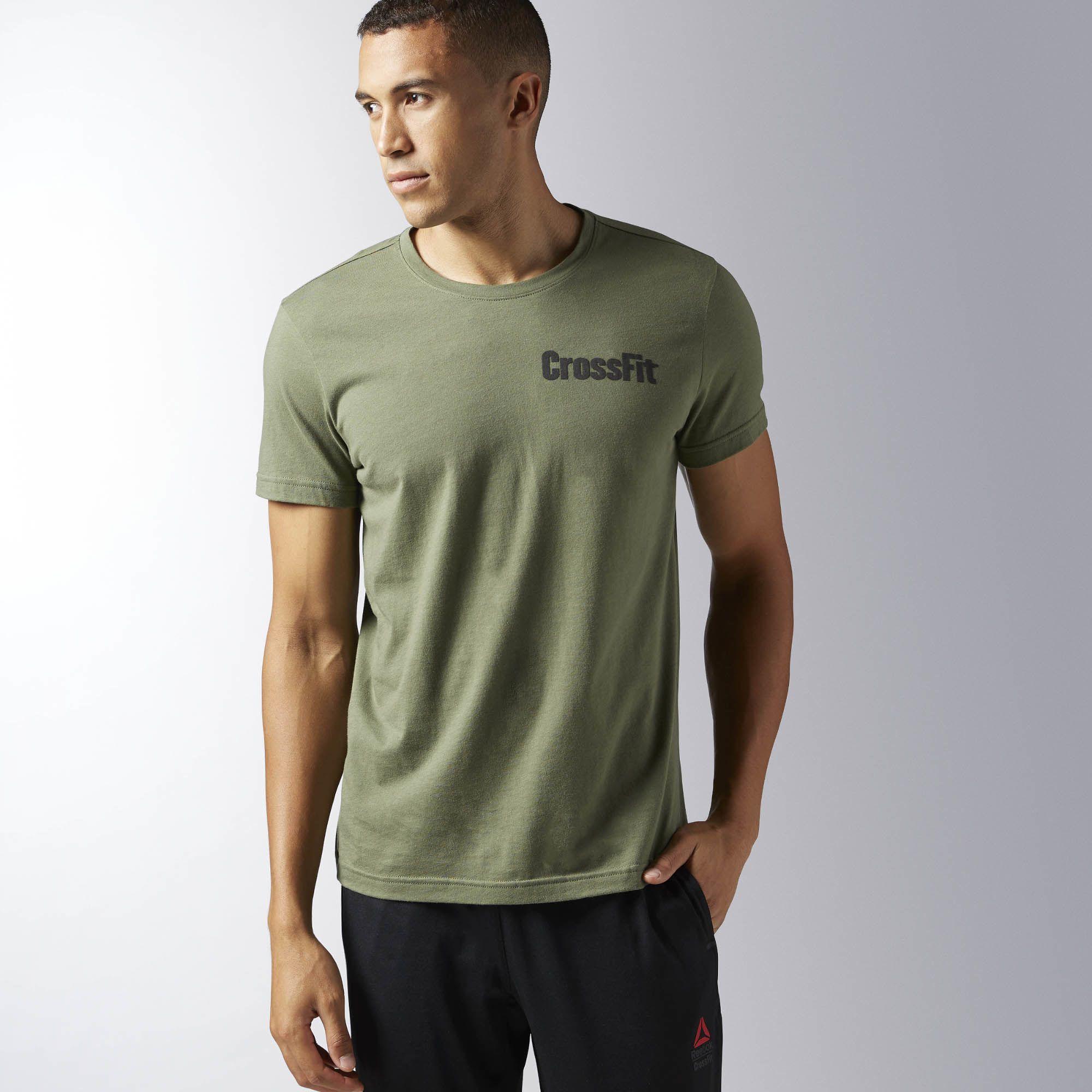 REEBOK Pánské tričko CROSSFIT ATHENA - zelené