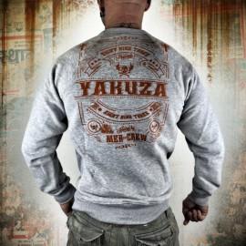 Pánská mikina YAKUZA MEX-CREW - šedá