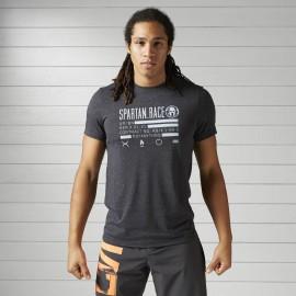 REEBOK Pánské tričko SPARTAN RACE - černé