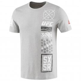 REEBOK Pánské tričko UFC ULTIMATE 5X5R - šedé
