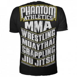 Pánské tričko Phantom MMA SPORTS černožluté