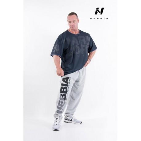 Fitness tepláky Nebbia 310 - světle šedé