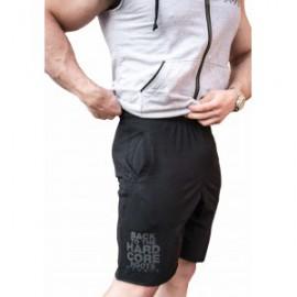 Pánské fitness šortky NEBBIA HARDCORE 344 - černé