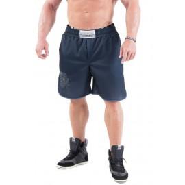 Pánské fitness šortky NEBBIA HARDCORE 302 - černé