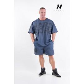 Pánské fitness šortky NEBBIA HARDCORE 302 - šedé