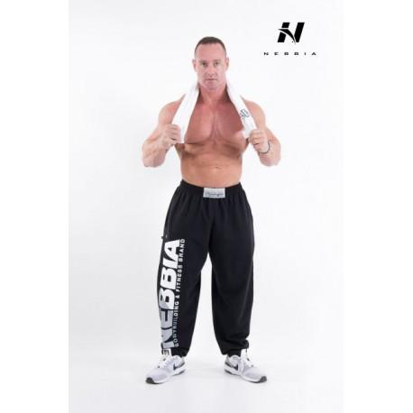 Fitness tepláky Nebbia 310 - černé