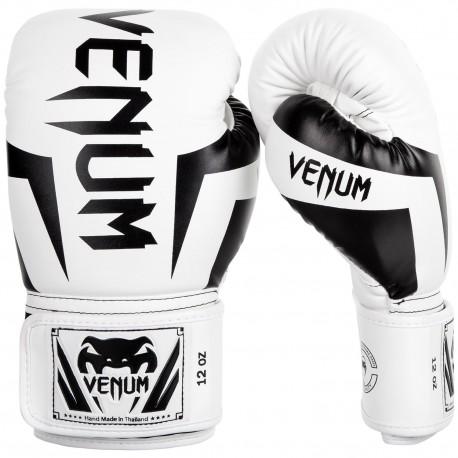 Boxerské rukavice VENUM ELITE - bílo/černé
