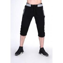 Fitness tepláky 3/4  Nebbia 125 - černé