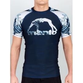 Manto Rashguard WAVES s Kr.rukávem - modrý
