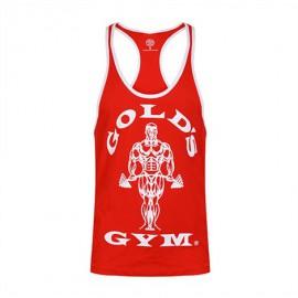 Gold Gym  Pánské tílko STRINGER JOE CONTRAST - červeno/bílé