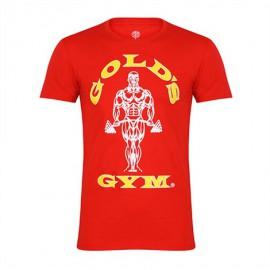 Gold Gym  Pánské tričko MUSCLE JOE - červené
