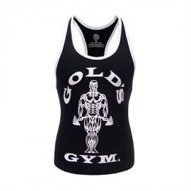 Gold Gym Dámské tílko FITTED STRINGER - černé