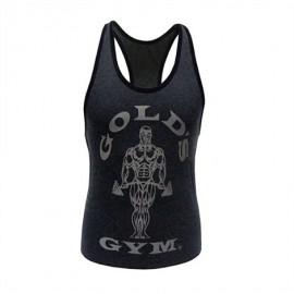 Gold Gym Dámské tílko FITTED STRINGER - šedé