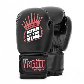 Boxerské rukavice Machine King Crown - černo/červené