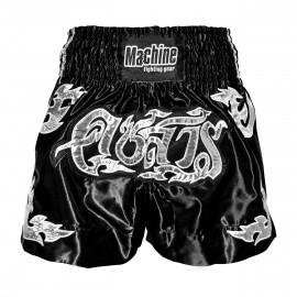 Thaibox trenky MACHINE Silver - černé