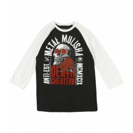 Pánské triko Metal Mulisha EPITAPH RAGLAN L/S - černá