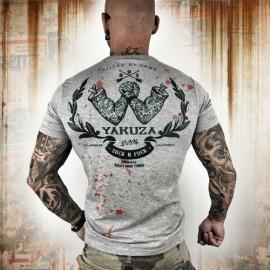 Pánské tričko YAKUZA Killed By Fame TSB 10056 - šedé