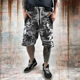 Pánské šortky Yakuza DEAD HEAD SSB 10070  - šedé