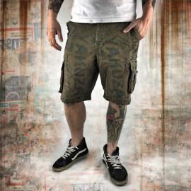 Pánské šortky Yakuza ALLOVER CARGO CSB 10036 - zelené