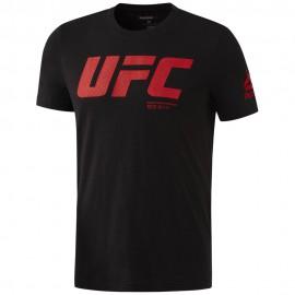 REEBOK Pánské tričko UFC FG LOGO - černé