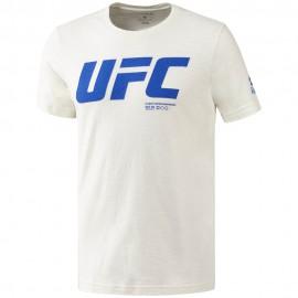 REEBOK Pánské tričko UFC FG LOGO - bílé