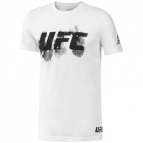 REEBOK Pánské tričko UFC FG BLUR - bílé