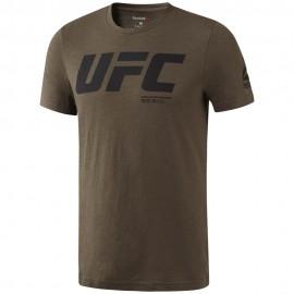 REEBOK Pánské tričko UFC FG LOGO - hnědé