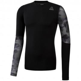 REEBOK Pánské kompresní tričko ACTVCHL GRPHC LS CO - černé
