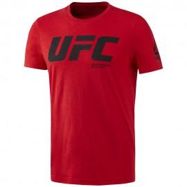 REEBOK Pánské tričko UFC FG LOGO - červené