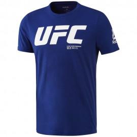 REEBOK Pánské tričko UFC FG LOGO - modré