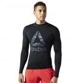 REEBOK Pánské kompresní tričko READY BRUSHED - černé
